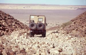1. Stufe der Abfahrt der Abfahrt nach El Bayyed