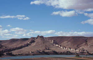 Gesamtansicht der Burg Halabiye ...