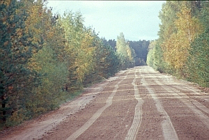 Verbindungsstraße in Lettland