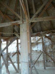 Holz und Gips-Struktur