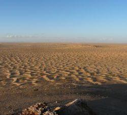 in die weite Sandwüste...