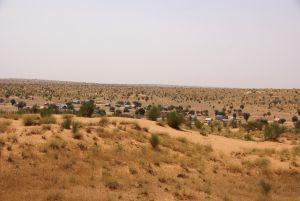 Unterkünfte für die malischen Flüchtlinge...