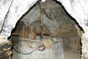 Inventar wie diese alte Olivenölmühle.