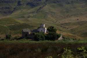 In der Lagune die Kirche Marmiro.