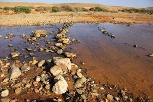 der anschließenden Oued-Querung...