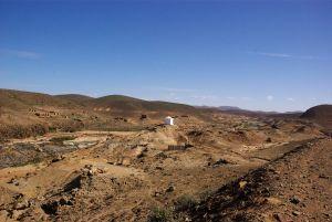 nur noch in den Oued-Oasen ist es grün.