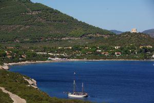 Die idyllische Bucht von Capo Caccia...