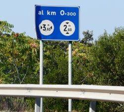 und Fabriken vorbei. Dieses Schild 300m vor...