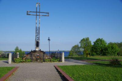 Zwischenstation in Polen am Bruno-Kreuz in Lötzen