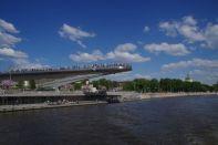 Die moderne Aussichtsplattform über der Moskwa unweit des Roten Platzes