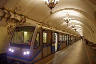 """Station Arbatskaja, die als """"Bunker"""" für den obersten Sowjet im 2. Weltkrieg diente..."""