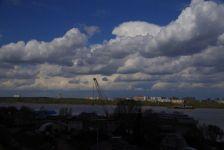 Die Querung der Kama bei Perm