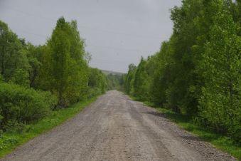 Auf einer Schotterpiste ins Altai...