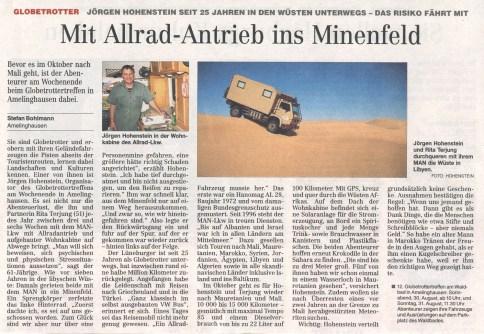 Hamburger Abendblatt 2008