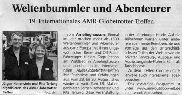 Treffen-Vorankuendigung 2015 in der Landeszeitung Lueneburg