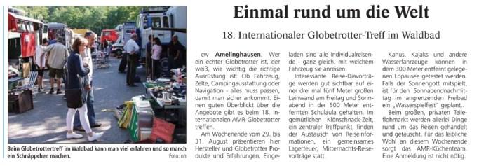 Vorankuendigung Landeszeitung Lueneburg 2014