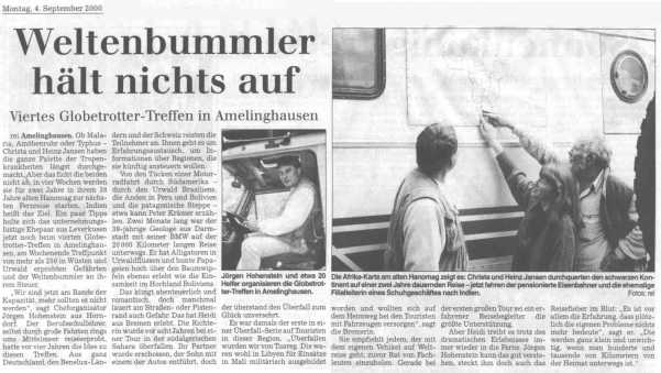 Landeszeitung Lueneburg 2000