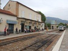 Der Bahnhof von Corte - Ausgangspunkt einer beliebten Bahnstrecke Richtung Vizzavone