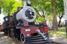 Letzte Station für diese belgische Lok von 1910 in Gualeguaychu