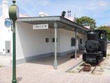 In Trelew der alte Bahnhof der Schmalspurbahn...