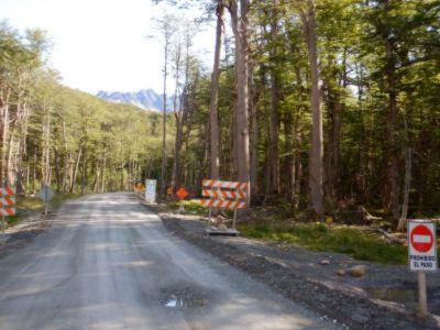 ...und dem Beginn der Straßenbaustelle (+800m).