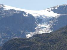 ...begleitet uns der Gletscher vom La Paciencia.