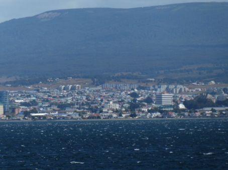 In Punta Arenas, dem größten Ort in Süd-Chile...