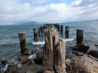 Über Puerto Natales, mit dem ehemaligen Landungssteg, ...