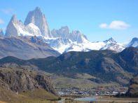 Wunderschön gelegen, El Chaltén am Fuße der Los Claciares, dem drittgrößten Gletschergebiet der Erde.
