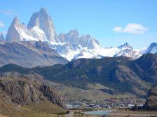Wunderschön gelegen, El Chaltén am Fuße der Los Glaciares, dem drittgrößten Gletschergebiet der Erde.