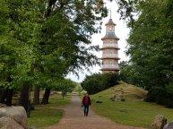 einen großen Parkbereich im chinesischen Stil.