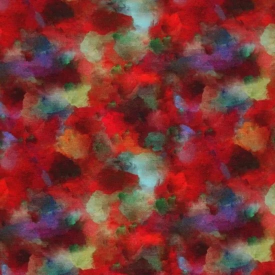 Tissu Jersey Viscose Impression Numerique Taches De Peinture Rouge