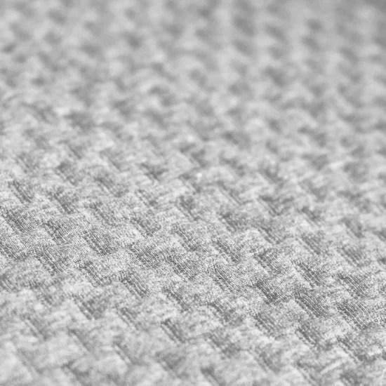 tissu jersey matelasse a motif brique gris clair melange