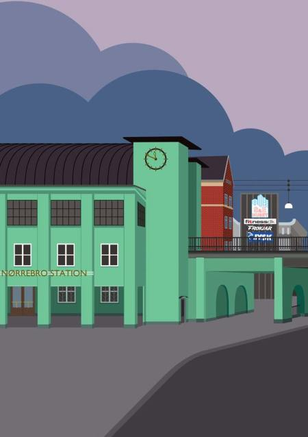 I ♥ NV Nordvest plakat Nørrebro Station
