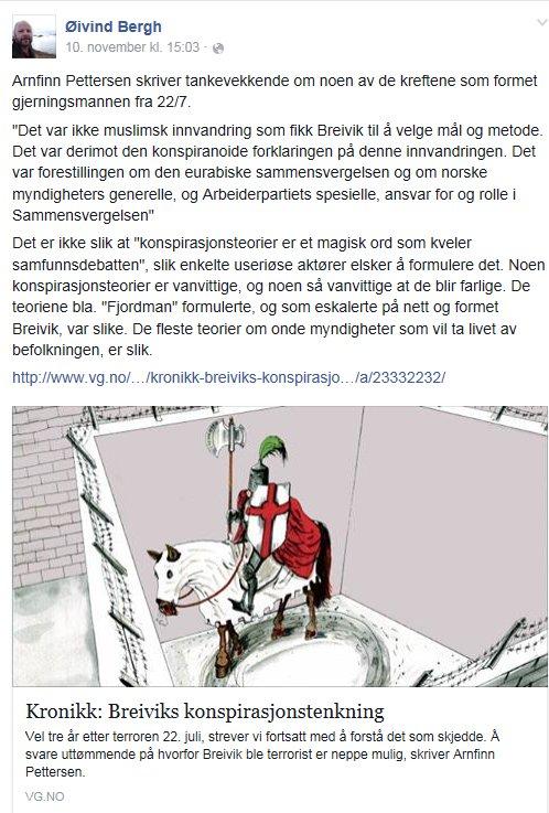 Arbeiderpartimannen Øivind Bergh trenger ikke lure lenger. Det var ikke konspirasjonsteoretikere som stod bak, mange strever heller ikke så mye med å forstå lenger, de vet.