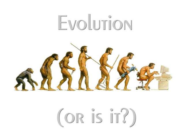 Kan Darwins utviklingsteori oppleves i reversert form; at mennesket fødes som menneske og ender opp som ape?