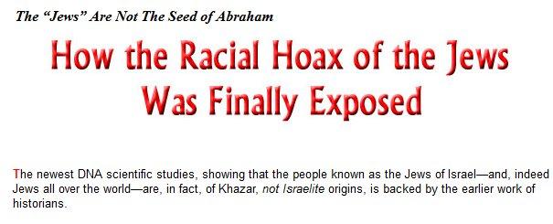 """""""Jødene"""" er ikke av Abrahams ætt"""