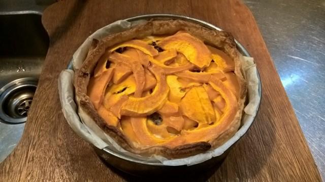 Hartige taart pompoen en courgette (8)