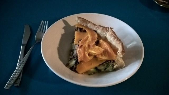 Hartige taart pompoen en courgette (9)