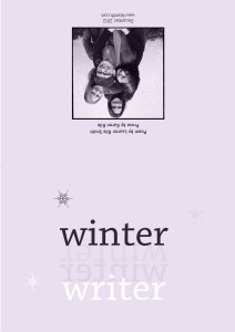 """Winter Writer"" 2012, outsideFireball Printing"