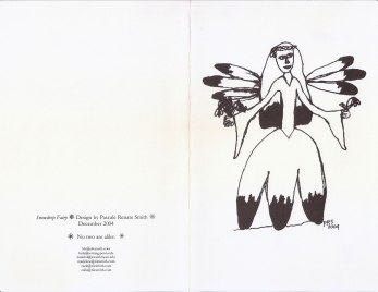 "Snowdrop Fairy Card 2004 - outside; drawing by Calla (Click ""view full size"" in lower right for clear copy)"
