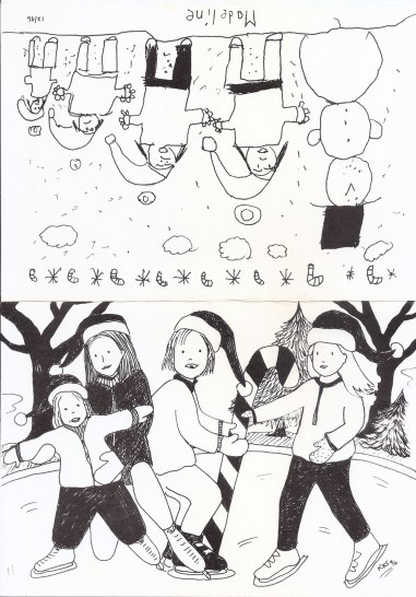 Holiday Card 1996, offset print; front: KR, back: Madeline