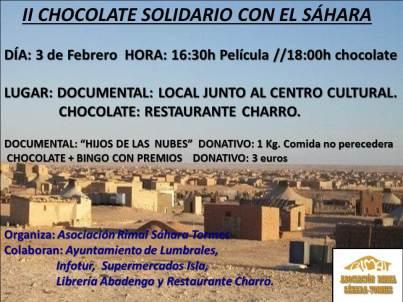 Chocolate solidarioII con el sahara