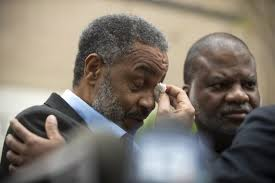 Anthony Ray Hinton leaving the Jefferson County Jail in Birmingham, Ala. on April 3, the day he was released.