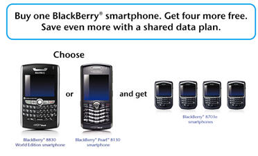 Bell Free BlackBerry Promotion