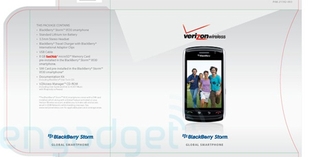 Verizon BlackBerry Thunder Storm Gets Boxed