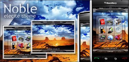 Noble: New Premium BlackBerry Theme Form Elecite
