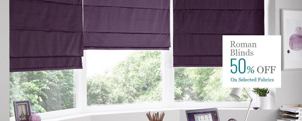 roman blinds offer