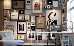Monochrome-framed-collection-of-sketches-and-art-living-modern-homedesignig