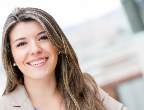 Portrait of a casual young woman smiling